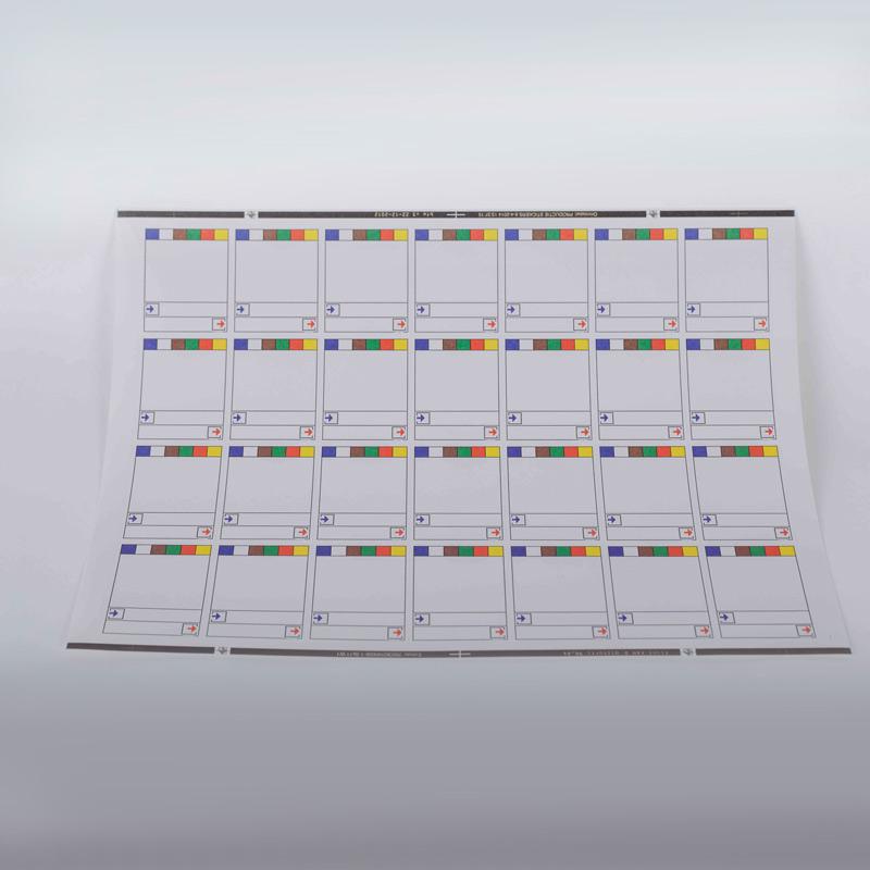 A4 productie labels